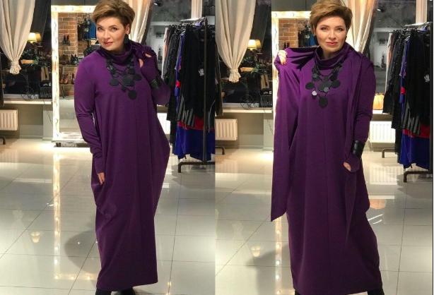 Платье-ромб — шикарный фасон для зрелых женщин