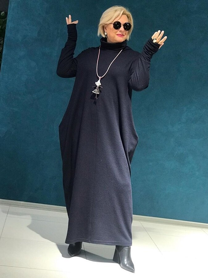 Платье-ромб с добавлением шерсти