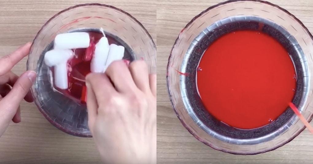 Необычная идея: красивый, весенний букет можно сделать из обычной свечки