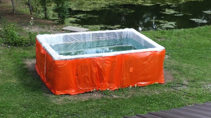 Как из поддонов построить дешевый большой бассейн за 1 день