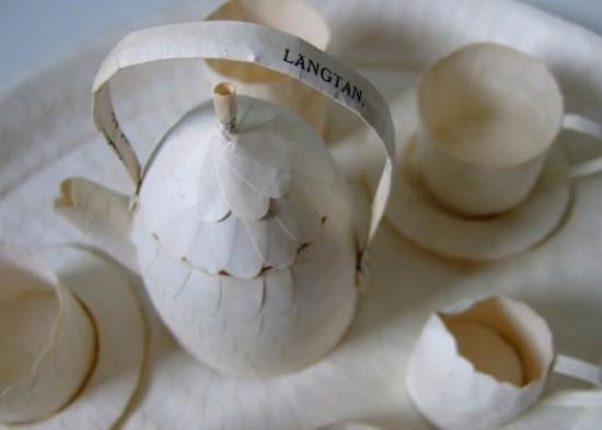 Техника бук-арт или кретивная посуда из бумаги от Сесилии Леви
